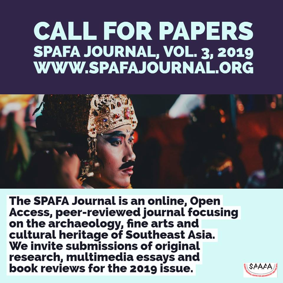 Call for Papers - SPAFA Journal Vol 3, 2019 - Seameo Spafa